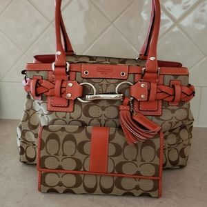 Coach handbag w/Matching Wallet